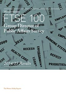 FTSE 100 Group Director of Public Affairs Survey 2014/2015 Results