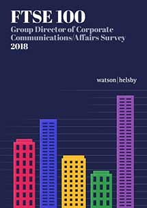 FTSE 100 Group Director of Corporate Communications Affairs Survey 2018