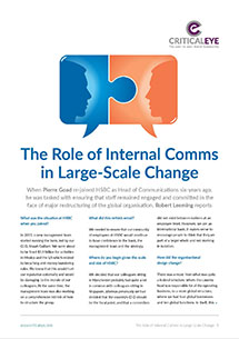 The Role of Internal Comms in Large-Scale Change